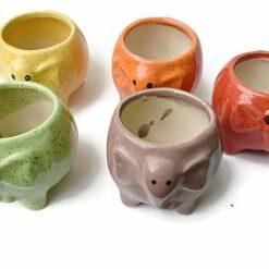 Ceramic pots elephant