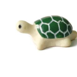 green tortoise figurine